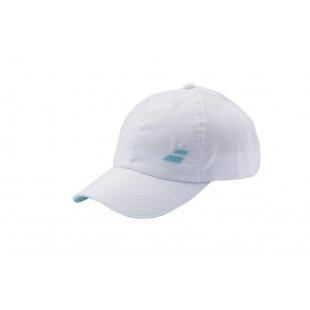 BASIC LOGO CAP white/turqe