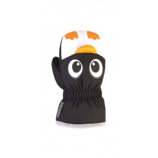ANIMAL MITTEN black pinguin