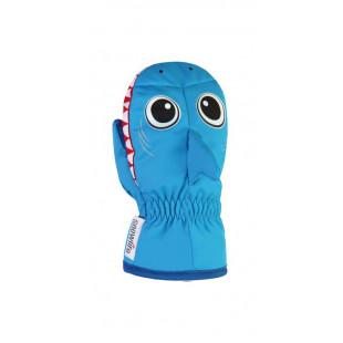 ANIMAL MITTEN blue fish