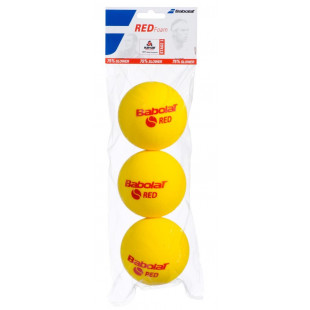 babolat RED FOAM lopty x3
