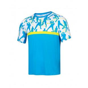 COMPETE CREW NECK TEE malibu blue